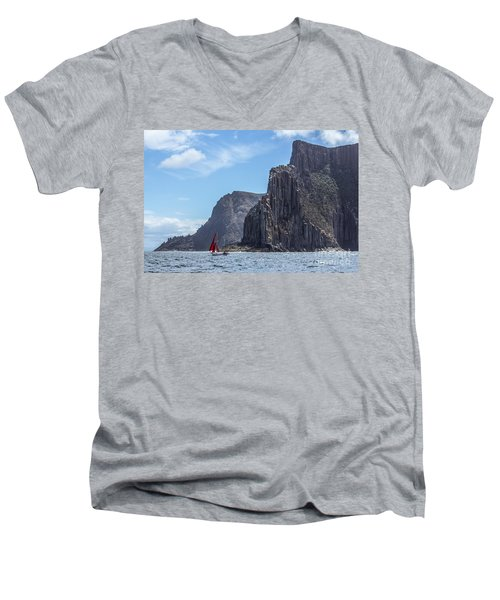 Red Sails Men's V-Neck T-Shirt
