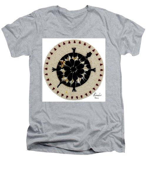 Red Tip Shell Men's V-Neck T-Shirt