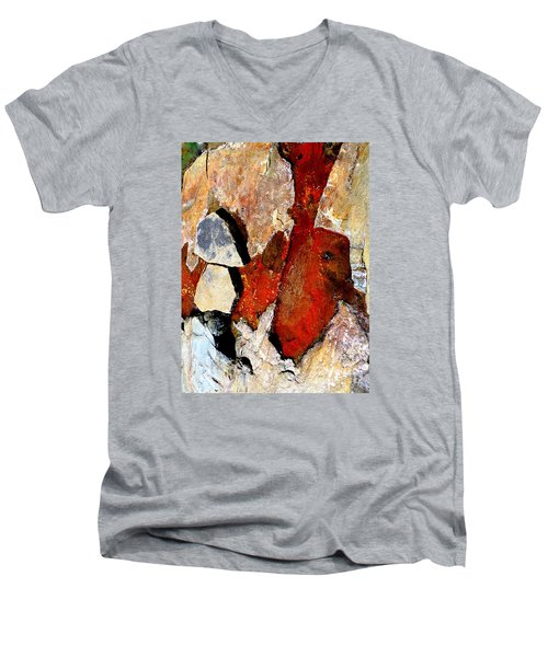 Red Veins Men's V-Neck T-Shirt