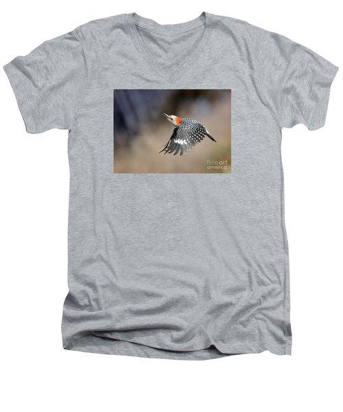 Redbelly Woodpecker Flight Men's V-Neck T-Shirt