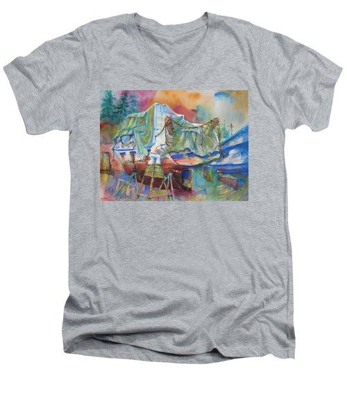 Redemption Ilwaco Wa Men's V-Neck T-Shirt