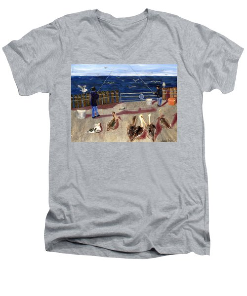 Redondo Beach Pelicans Men's V-Neck T-Shirt