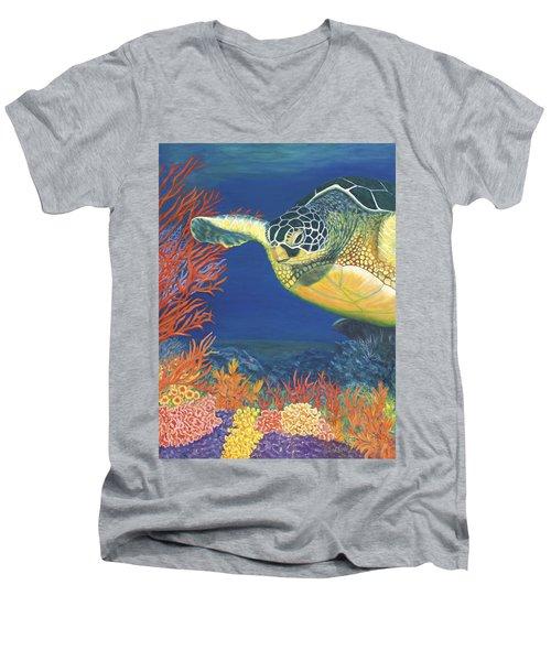 Reef Rider Men's V-Neck T-Shirt