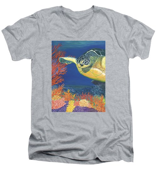 Reef Rider Men's V-Neck T-Shirt
