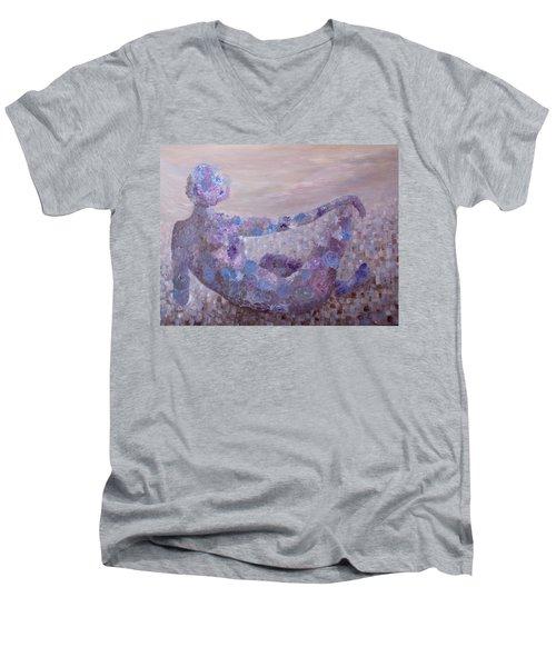 Reflecting Men's V-Neck T-Shirt by Joanne Smoley