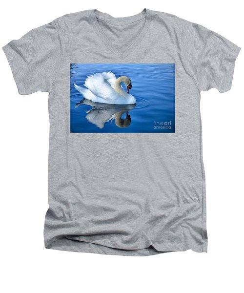 Reflecting Men's V-Neck T-Shirt by Deb Halloran
