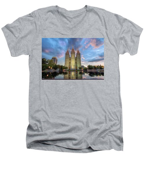 Reflecting On Faith Men's V-Neck T-Shirt