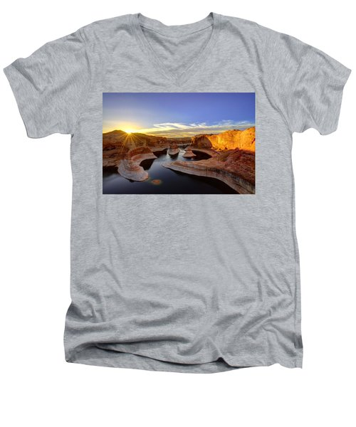 Reflection Canyon Sunrise Men's V-Neck T-Shirt