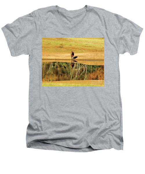Reflection Men's V-Neck T-Shirt by Carol Lynn Coronios