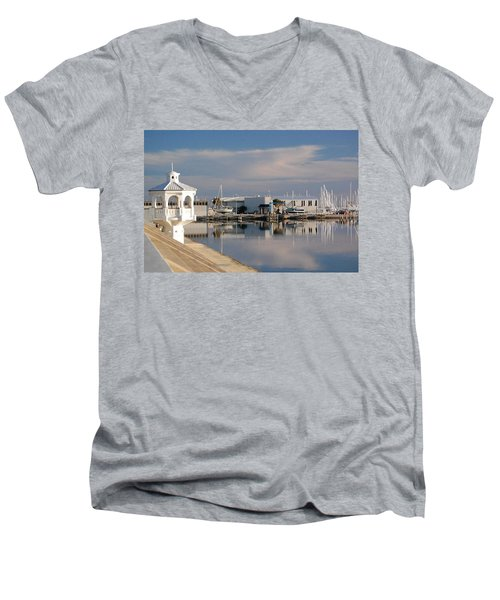 Men's V-Neck T-Shirt featuring the photograph Reflection by Leticia Latocki