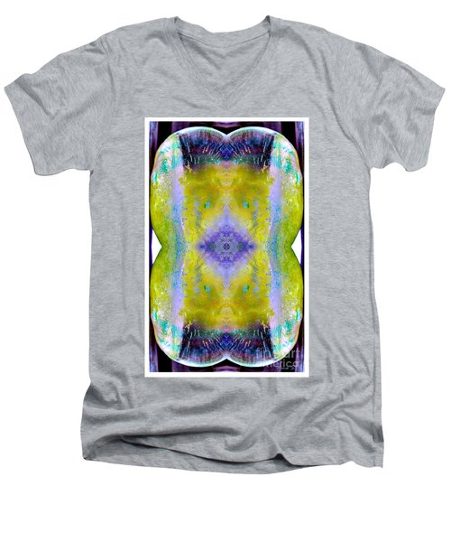 Men's V-Neck T-Shirt featuring the photograph Reflections In Ice by Nina Silver