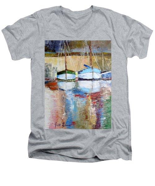 Reflections Men's V-Neck T-Shirt by Janet Garcia