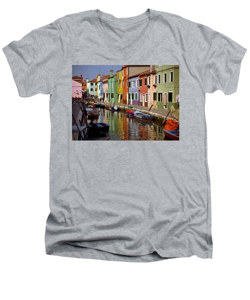 Reflections Of Burano Men's V-Neck T-Shirt