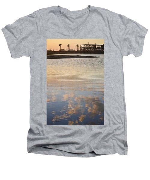 Reflections Of Dusk Men's V-Neck T-Shirt
