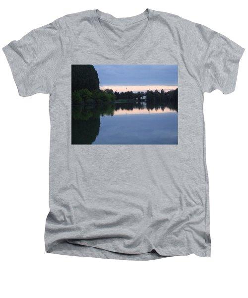 Reflections On La Saone Men's V-Neck T-Shirt