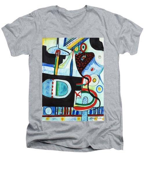 Reflective #7 Men's V-Neck T-Shirt
