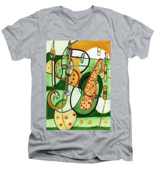 Reflective #9 Men's V-Neck T-Shirt