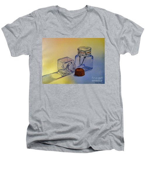 Reflective Still Life Jars Men's V-Neck T-Shirt