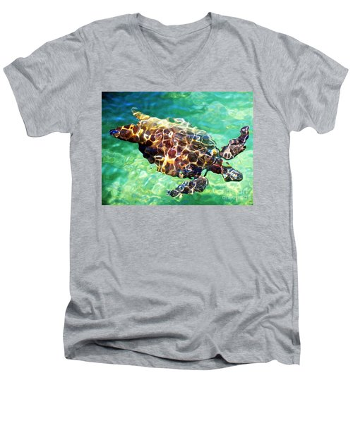 Men's V-Neck T-Shirt featuring the photograph Refractions - Nature's Abstract by David Lawson