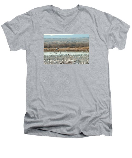 Refuge View 1 Men's V-Neck T-Shirt