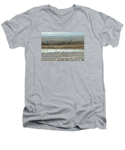 Refuge View  Men's V-Neck T-Shirt by James Gay