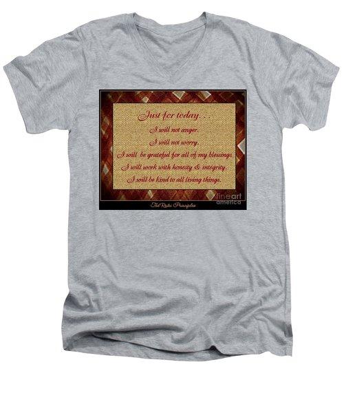 Reiki Principles Men's V-Neck T-Shirt