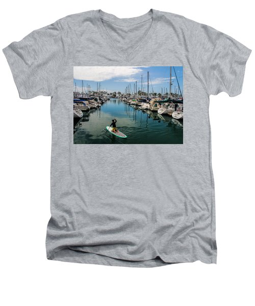 Relaxing Day Men's V-Neck T-Shirt by Tammy Espino