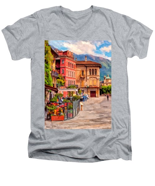 Relaxing In Baveno Men's V-Neck T-Shirt by Michael Pickett
