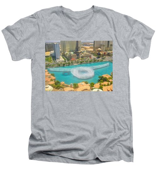 Men's V-Neck T-Shirt featuring the photograph Release To Dance by Angela J Wright