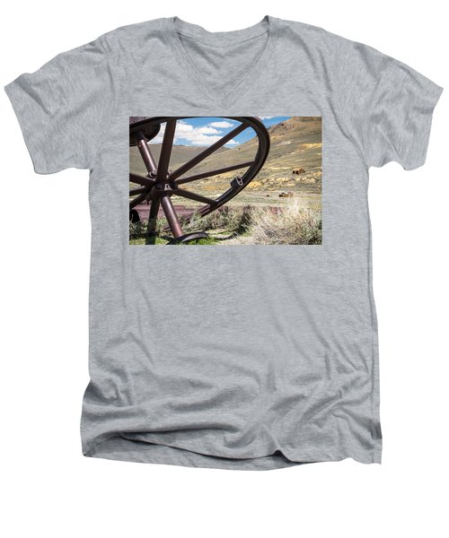 Men's V-Neck T-Shirt featuring the photograph Relics Of Bodie by Steven Bateson