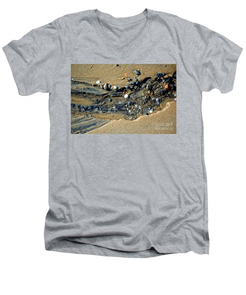 Men's V-Neck T-Shirt featuring the photograph Remants by Christiane Hellner-OBrien