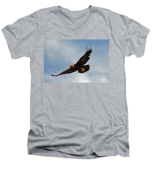 Resolute Men's V-Neck T-Shirt by Bob Hislop
