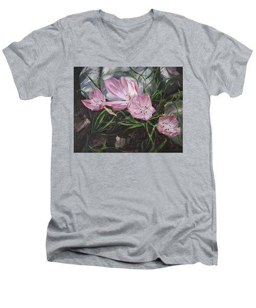 Resurrection Lilies Men's V-Neck T-Shirt