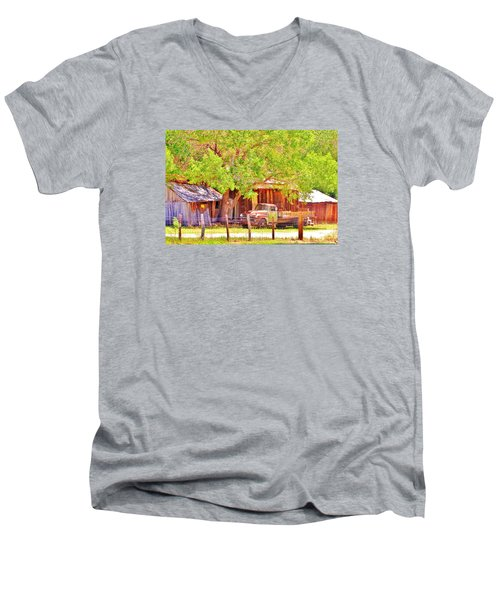 Men's V-Neck T-Shirt featuring the photograph Retired by Marilyn Diaz