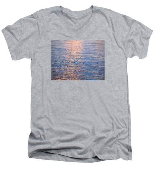 Men's V-Neck T-Shirt featuring the photograph Returning  by Susan  Dimitrakopoulos