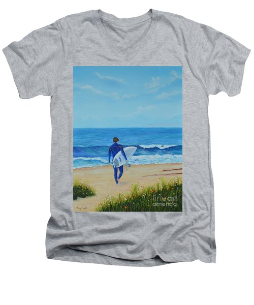Returning To The Waves Men's V-Neck T-Shirt