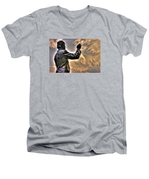 Rev. Father William E. Corby C S C - Blessing The Troops Of The 88th New York Infantry Irish Brigade Men's V-Neck T-Shirt by Michael Mazaika