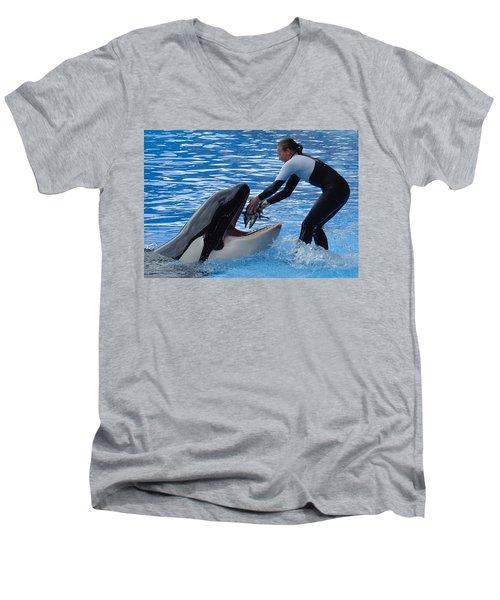 Men's V-Neck T-Shirt featuring the photograph Reward by David Nicholls