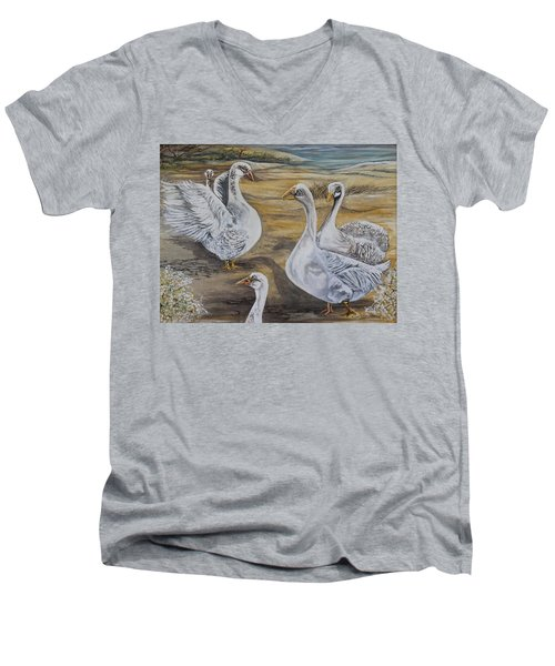 Rhapsody In G Major Men's V-Neck T-Shirt