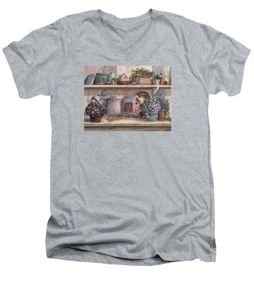 Rhapsody In Rose Men's V-Neck T-Shirt