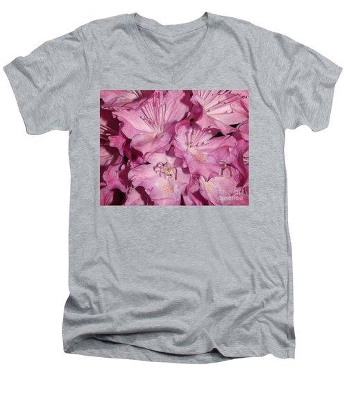 Rhododendron Bliss Men's V-Neck T-Shirt