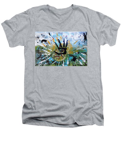 Rhythm Of Life Men's V-Neck T-Shirt