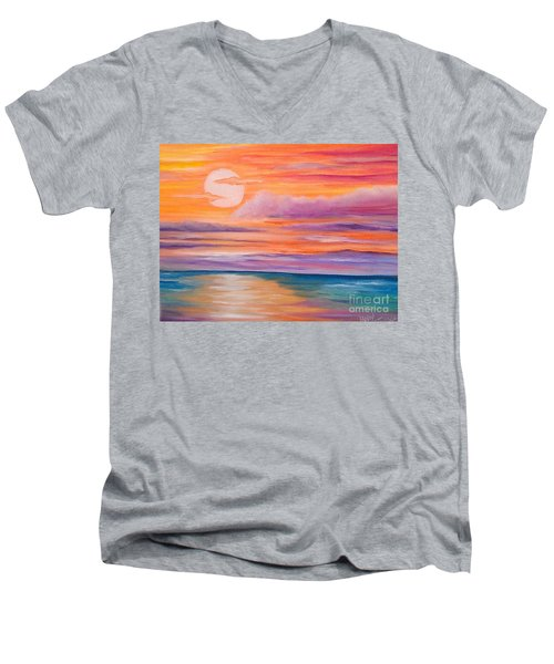 Ribbons In The Sky Men's V-Neck T-Shirt by Holly Martinson