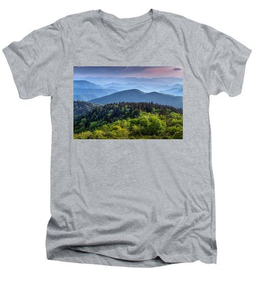Ridges At Sunset Men's V-Neck T-Shirt