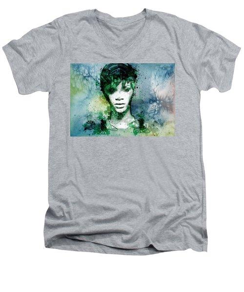 Rihanna 4 Men's V-Neck T-Shirt by Bekim Art
