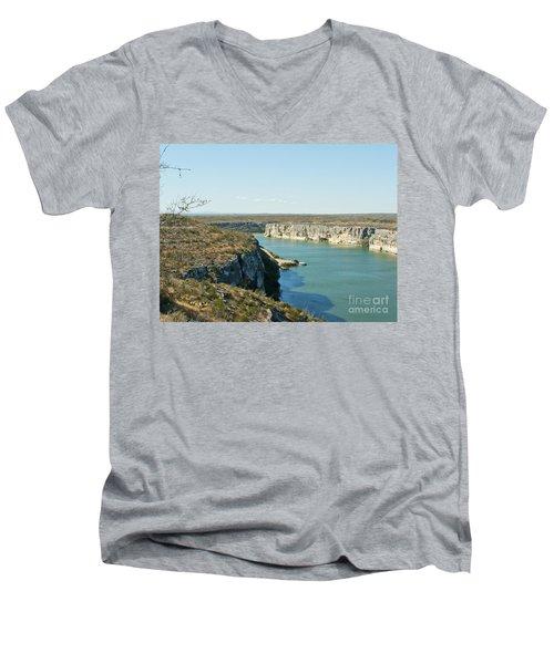 Men's V-Neck T-Shirt featuring the photograph Rio Grande by Erika Weber