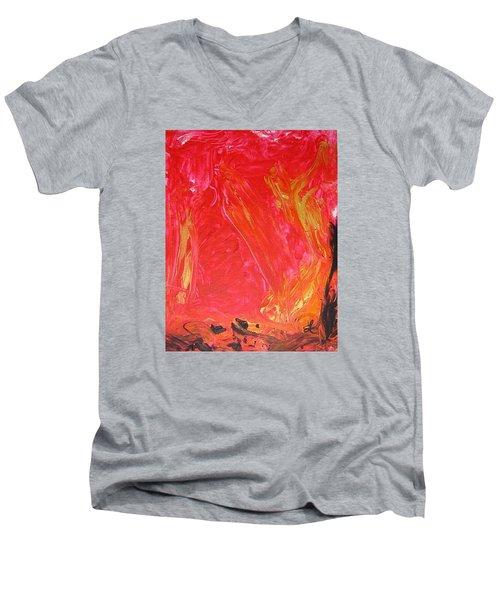 Rising Up I Men's V-Neck T-Shirt