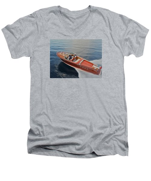 Riva Aquarama Men's V-Neck T-Shirt