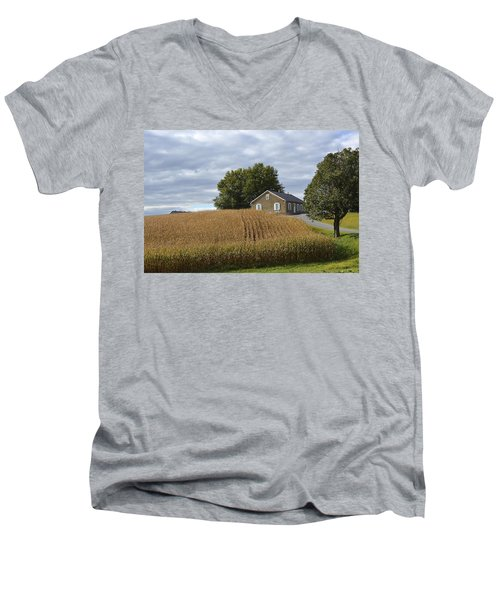 River Corner Mennonite Church Men's V-Neck T-Shirt