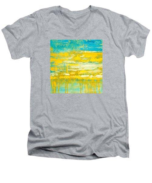 River Of Praise Men's V-Neck T-Shirt by Donna Dixon